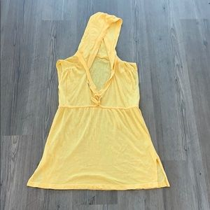 c&c california sleeveless tunic, yellow, small
